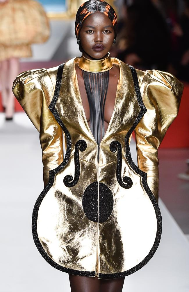 A metallic moment from Australian supermodel and Moschino muse, Adut Akech. Picture: Getty Images