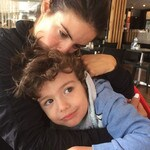 "MOTHER'S DAY SPECIAL... Actress Ada Nicodemou with her son Johnas Xipolitas, ""Lots of cuddles from my little man.."" Picture: Instagram"
