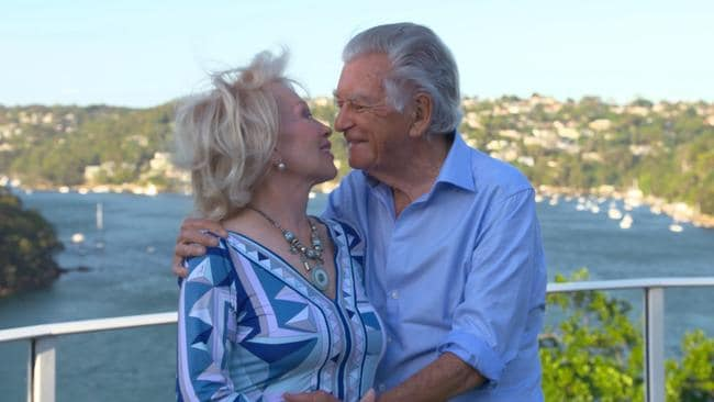 Bob Hawke and wife Blanche d'Alpuget pictured at their Sydney home. Picture: Supplied/Nine.