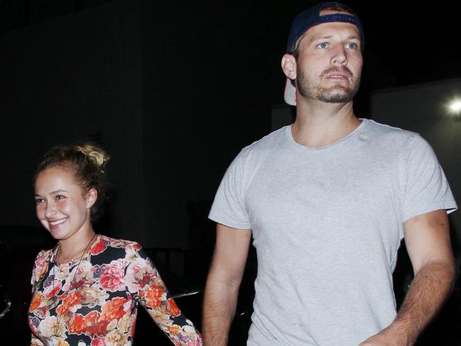 "Actress Hayden Panettiere and Brian Hickerson's relationship has been a ""concern"" for friends. Picture: Splash News"