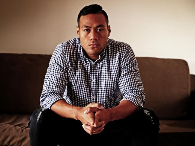 Disgraced NRL player Tim Simona opens up in an interview with Phil Rothfield, confessing to taking drugs and gambling. Picture: Sam Ruttyn