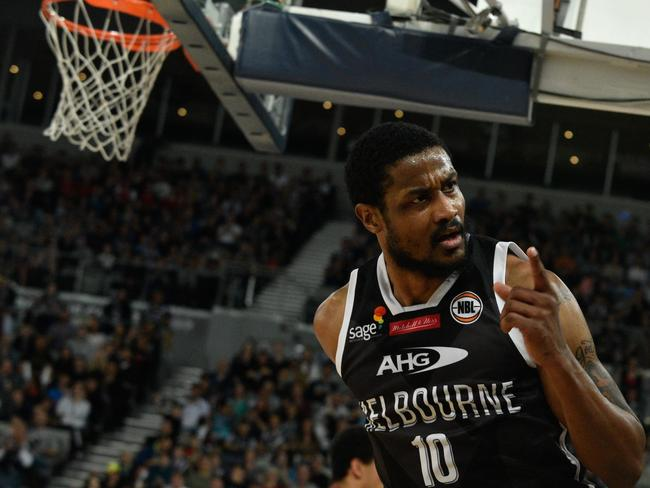 Moore playing with Melbourne United last year.