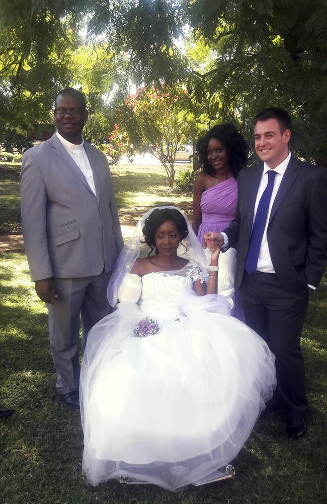 Zanele and Jamie didn't let the croc attack ruin their big day.