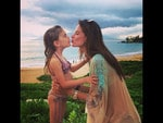 """Alessandra Ambrosio and daughter Anja, """"My girl #loveumorethenwords' Picture: Instagram"""