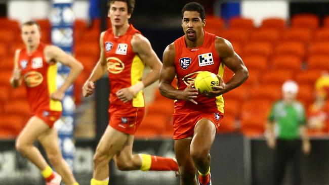 Joel Wilkinson in action for the Gold Coast Suns' NEAFL team.