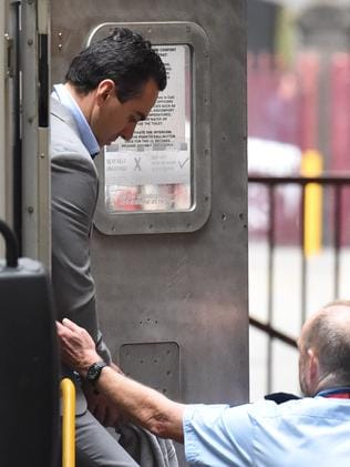 Andrew Lee arrives at court today. Picture: Nicole Garmston