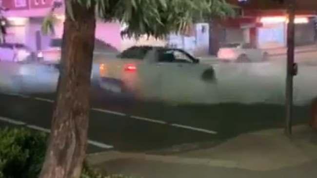 RUSH HOUR: Dumb driver's reckless stunt