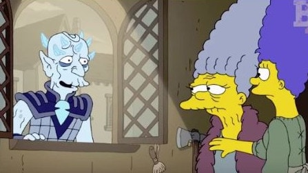 Marge Simpson even got acquainted with the Night King. Picture: Fox