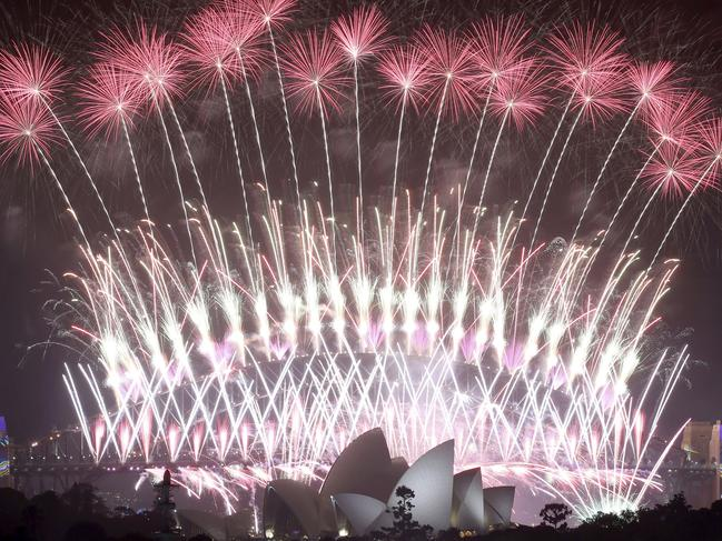 "Australia's Prime Minister Scott Morrison said Sydney's iconic New Year's Eve fireworks would go ahead to show the world ""Australia's resiliency."" Picture: AP"
