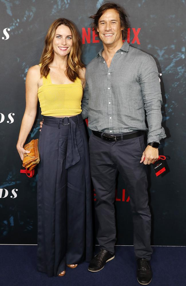 Actor Jolene Anderson, who is in Brisbane filming Hoodlum series Harrow, and boyfriend Dan Stephens attended the red carpet world premiere of Hoodlum's latest series Tidelands in Brisbane on December 9.