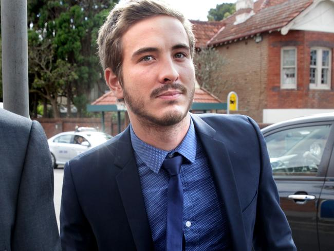 Ryan Corr arrives in court to answer a heroin possession charge