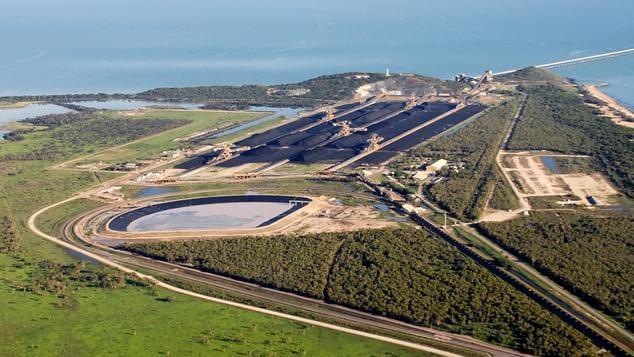 Abbot Point, through which coal from the Carmichael megamine will pass.