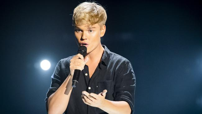 Jack Vidgen is the favourite to win The Voice Australia, according to Sportsbet. Picture: Channel 9