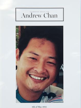 Andrew Chan's funeral booklet.