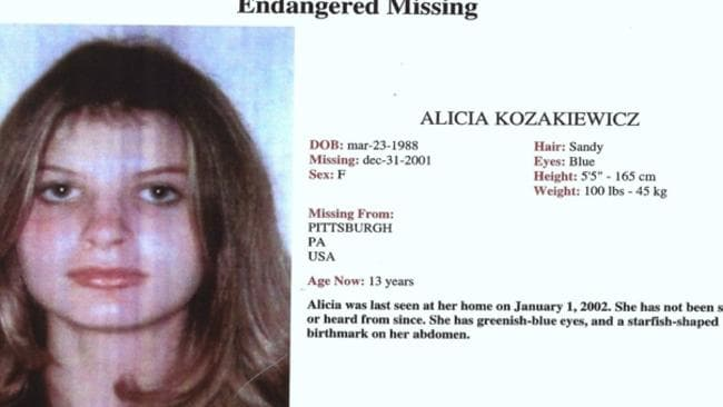 The poster calling for information on the whereabouts of Alicia Kozakiewicz.