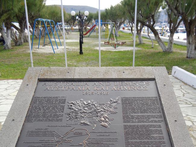 One of many memorials on the island. Picture: John Burfitt