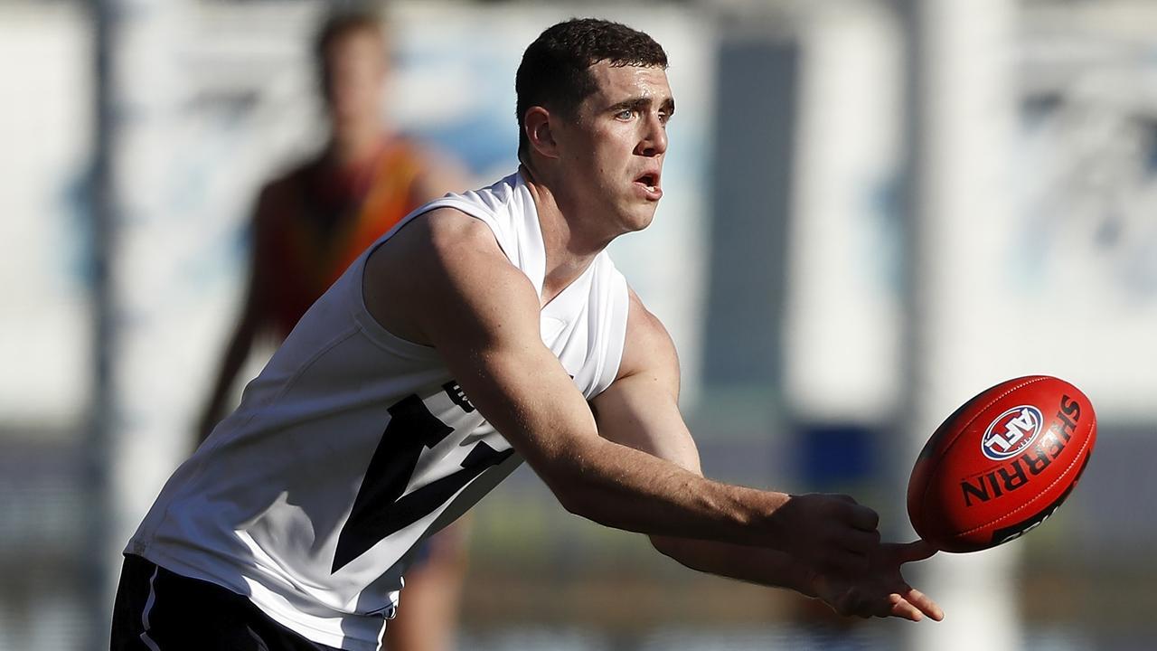 Sam Flanders won Under 18 All-Australian selection. Picture: Dylan Burns (AFL Photos)