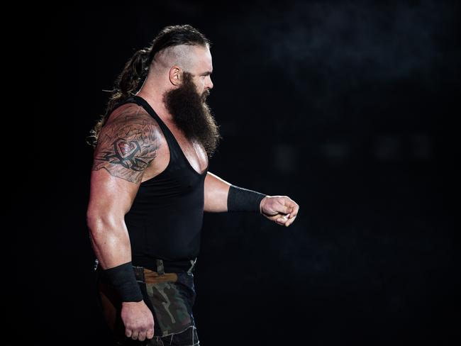 Braun Strowman doesn't play nice. (Photo by Lukas Schulze/Bongarts/Getty Images)
