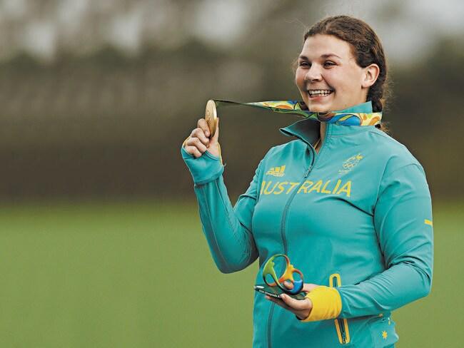 Australian trap shooting gold medallist Catherine Skinner.