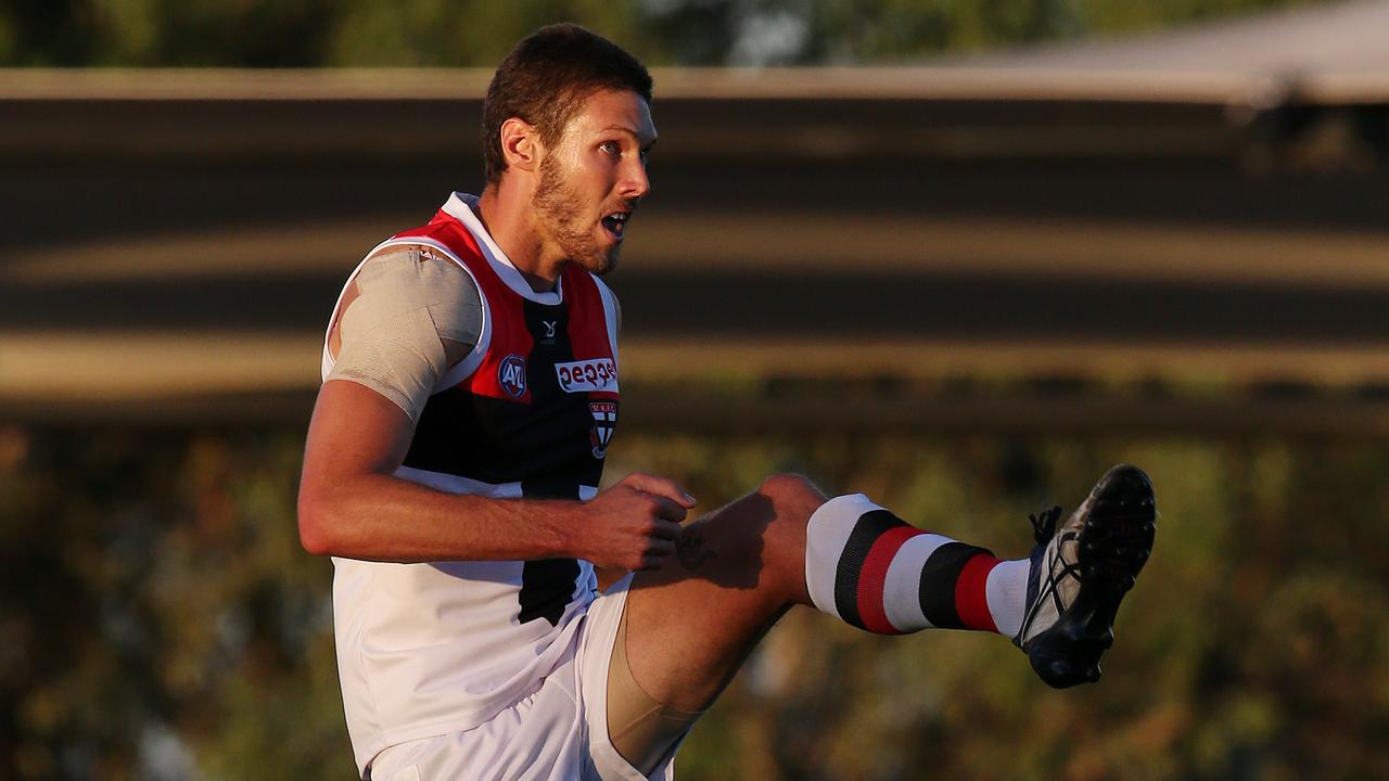 St Kilda's Tom Hickey has attracted interest from West Coast. Picture: Michael Klein