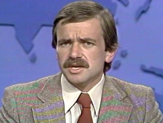 Quentin Fogarty presenting the news in 1979 after the sighting. Picture: File