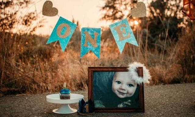 They decided to celebrate the birthday that their little boy would never see. Image: Megan Nutter/Lil' Lemon Photography