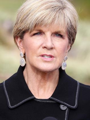 Julie Bishop says Australia is committed to working with Vietnam to improve human rights. Picture: Mark Scott
