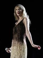 <p>US singer Taylor Swift performs on stage at the Burswood Dome during the opening night of her 'Speak Now' Australian tour in Perth, Australia, Friday, March 2, 2012. Swift will go on to perform in Perth, Adelaide, Brisbane, Sydney, Melbourne and Auckland New Zealand. (AP Photo/Theron Kirkman)</p>  <br />