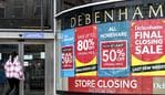 BELFAST, ANTRIM, UNITED KINGDOM - 2021/05/09: A shopper seen entering the Debenhams Store. (Photo by Michael McNerney/SOPA Images/LightRocket via Getty Images)