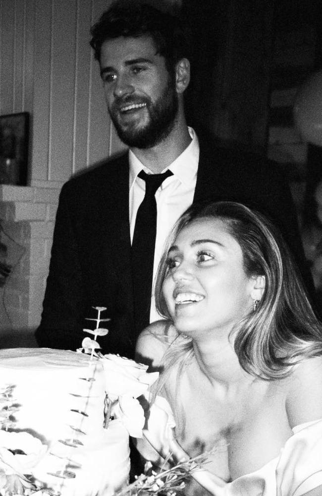 Hemsworth and Cyrus got married late last year. Photo: Instagram