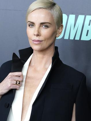Theron at the  <i>Bombshell</i> screening in New York City earlier this week. Picture: John Lamparski/Getty Images