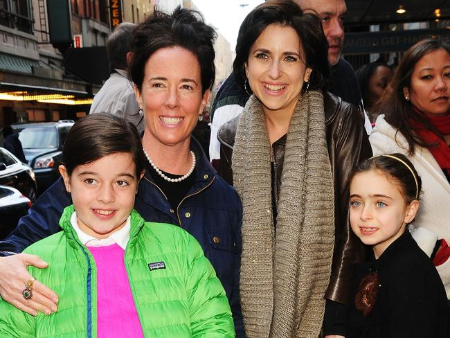 Designer Kate Spade with daughter Beatrix Spade (L), and Darcy Miller with her daughter (R) Daisy Nussabaum. Picture: Supplied