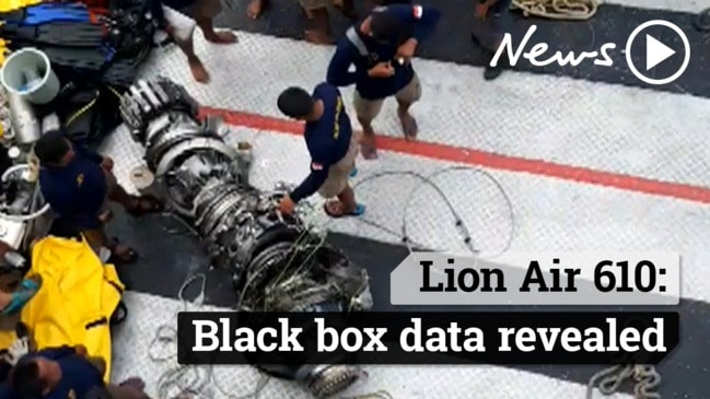 Black box data from Lion Air 610 revealed air speed indicator glitch.