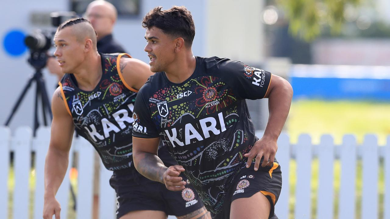Latrell Mitchell and the Indigenous All Stars are training at Somerset College.