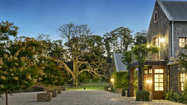 The property's charming grounds.