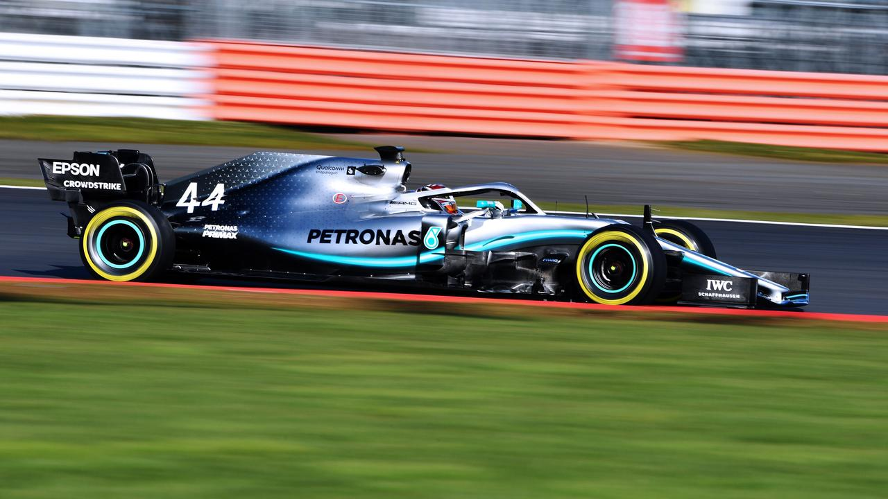 Lewis Hamilton took the new Mercedes W10 for a first spin ahead of 2019 testing.