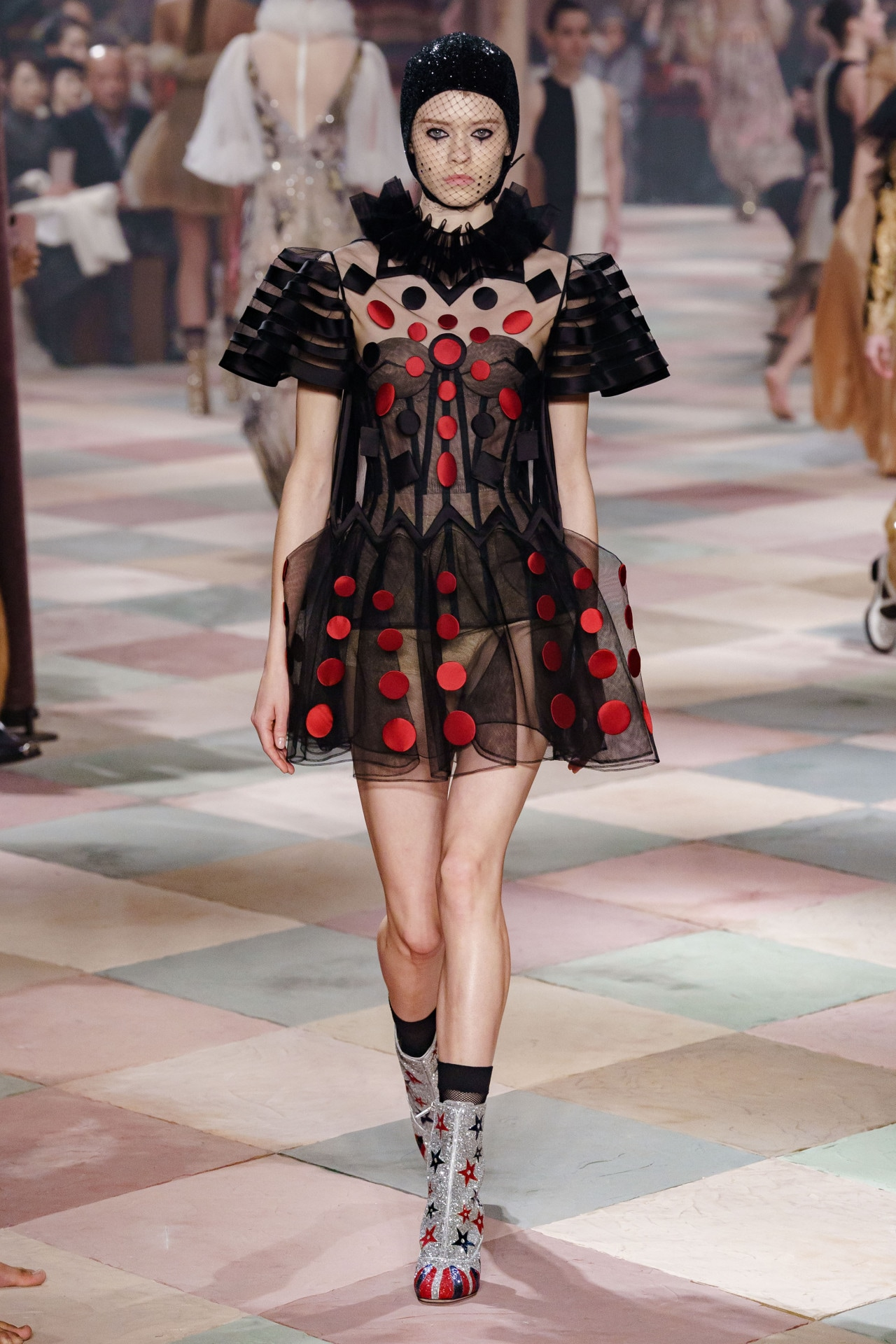 Suzy Menkes at haute couture spring 2019