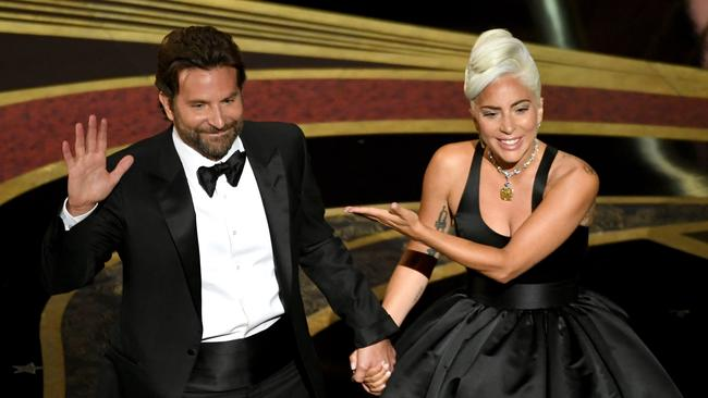 Cooper and Lady Gaga gave a stunning performance of <i>Shallow</i> at the ceremony. Picture: Kevin Winter/Getty Images/AFP