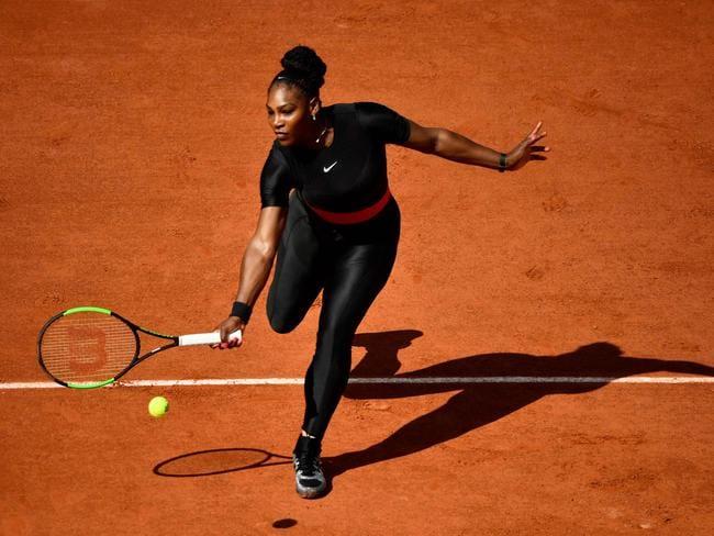 Serena Williams explains the black catsuit. Picture: AFP