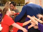 Britain's Prince Harry and his fiancée Meghan Markle attend a street dance class during their visit to Star Hub community and leisure centre in the Tremorfa area of Cardiff, south Wales on January 18, 2018. Picture: AFP