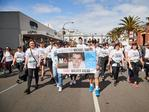 Tjhe Walk for Michael Owens at the City-Bay. Picture: Matt Loxton