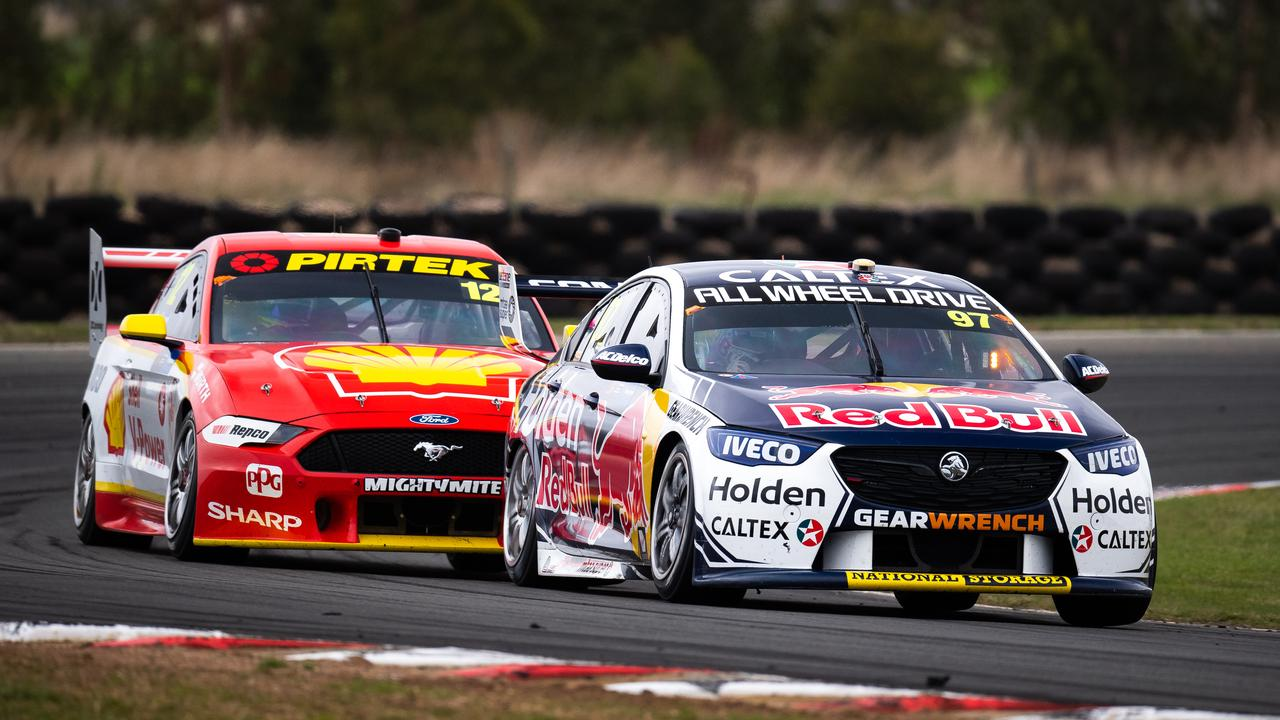 The factory Holden team will be hoping to be ahead of the Shell squad. Picture: Daniel Kalisz