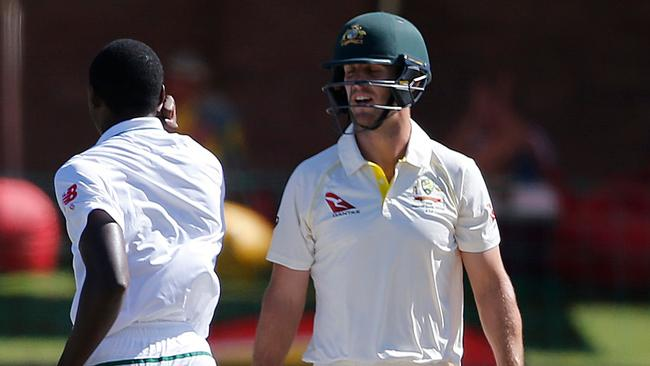 Mitchell Marsh picked up a hamstring injury in the second Test.