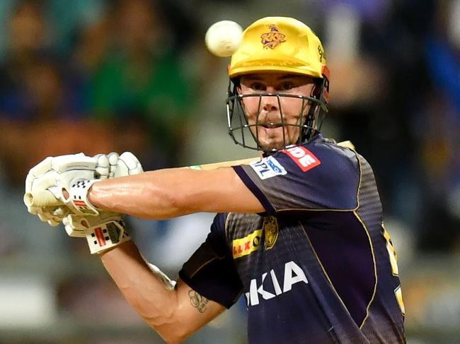 Queensland's Chris Lynn plays a shot during the 2019 Indian Premier League with the Kolkata Knight Riders.