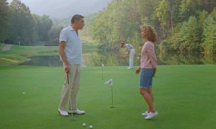 When Penny needs an abortion, Baby tries to save the day by asking her father for money while he's playing out on the golf course. Source: Vestron Pictures