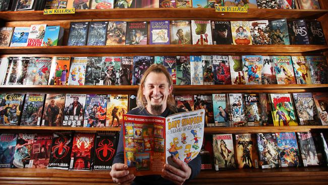 Peter Moore, owner of Pulp Fiction Comics in Adelaide.