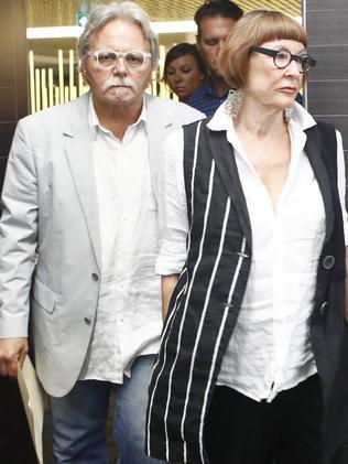 Ms Damond's father John Ruszczyk and stepmother, Maryan Hefferen. Picture: Daniel Munoz.
