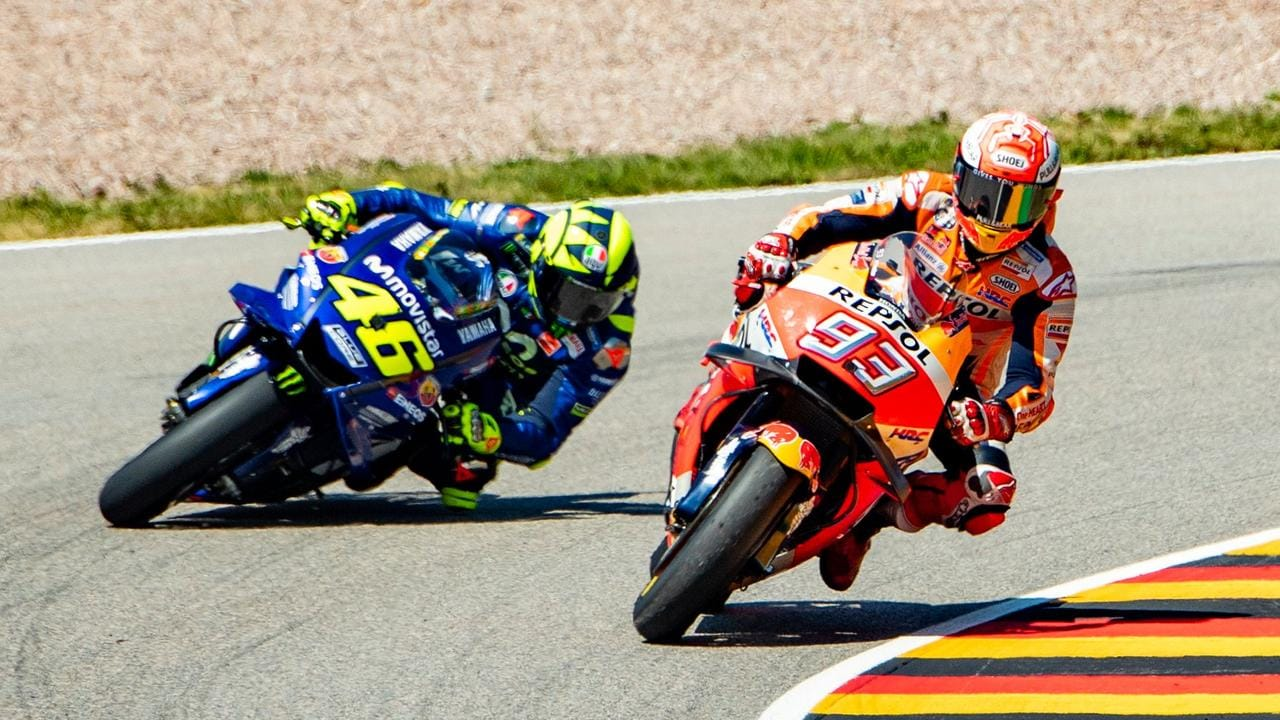 Valentino Rossi has been left behind by Marc Marquez in recent years.