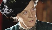 Maggie Smith in a scene from TV show Downton Abbey.