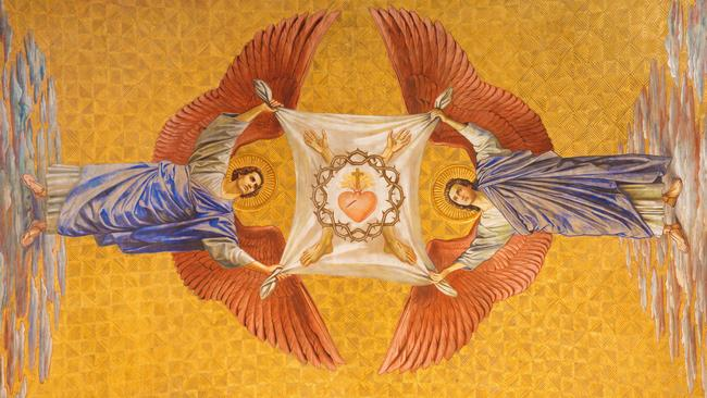 The fresco of angels by Friedrich Stummel and Karl Wenzel in Berlin's Sacred Heart Chruch. Picture: iStock